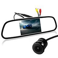 billiga Parkeringskamera för bil-ziqiao 5 tums tft-lcd ccd-kabel 170 graders bil baksidesats vikbar vattentät för bil