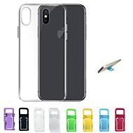 غطاء من أجل Apple iPhone X / إفون 8 / iPhone 7 نحيف جداً / شفاف غطاء خلفي لون سادة ناعم TPU إلى iPhone X / iPhone 8 Plus / iPhone 8