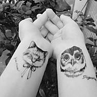 billiga Temporära tatueringar-10pcs Klistermärke Djurserier Tatueringsklistermärken