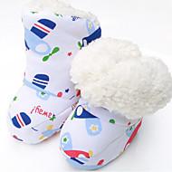 tanie Obuwie dziewczęce-Dla dziewczynek Obuwie Polar Zima Buty do nauki chodzenia Adidasy Sznurowane na Żółty / Niebieski / Różowy