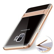billiga Mobil cases & Skärmskydd-fodral Till Samsung Galaxy S9 S9 Plus med stativ Genomskinlig Skal Enfärgad Mjukt TPU för S9 Plus S9 S8 Plus S8 S7
