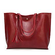 baratos Bolsas de Ombro-Mulheres Bolsas PU Leather Bolsa de Ombro Mocassim Cinzento / Marron / Vinho