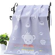 billiga Handdukar och badrockar-Överlägsen kvalitet Badhandduk, Enkel / Geometrisk Polyester / Bomull Blandning 1 pcs