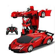 Fjernstyret bil 2In1 RC Car Sports Car Transformation Robots Models 4 Kanal På vej / Driftbil 1:18 KM / H