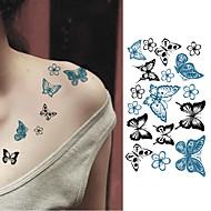 10pcs Adesivo Séries Animal Tatuagens Adesivas