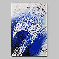 billiga Oljemålningar-Hang målad oljemålning HANDMÅLAD - Abstrakt Popkonst Moderna Duk