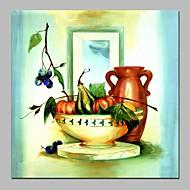 billiga Oljemålningar-Hang målad oljemålning HANDMÅLAD - Stilleben Blommig / Botanisk Klassisk Duk