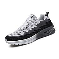baratos Sapatos Masculinos-Homens Tule Primavera / Outono Conforto Tênis Corrida / Fitness Preto / Vermelho / Azul