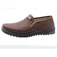 baratos Sapatos Masculinos-Homens sapatos Tecido Primavera Conforto Mocassins e Slip-Ons Cinzento / Café