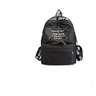 billige Skoletasker-Unisex Tasker Oxfordtøj Skoletaske Lynlås for Skole Hvid / Sort / Gul