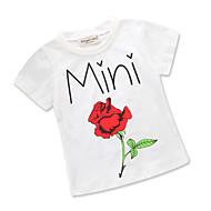 Baby Pige Blomstret / Trykt mønster Kortærmet T-shirt