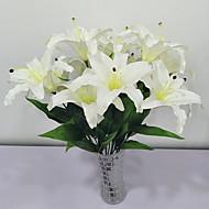 billige Kunstig Blomst-Kunstige blomster 1 Afdeling Rustikt Liljer Gulvblomst