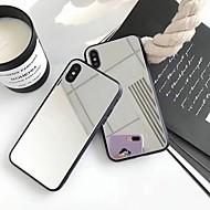 billiga Mobil cases & Skärmskydd-fodral Till Apple iPhone X / iPhone 8 Plus Spegel Skal Enfärgad Hårt Akrylfiber för iPhone X / iPhone 8 Plus / iPhone 8