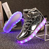 baratos Sapatos de Menina-Para Meninos / Para Meninas Sapatos TPU Verão / Outono Solados com Luzes Tênis Presilha / Cadarço para Dourado / Prata / Rosa claro