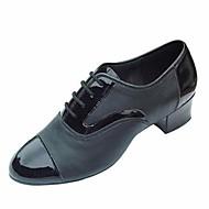 billige Men's Dance Shoes-Herre Moderne sko PU Oxford Tykk hæl Dansesko Svart / Ytelse / Trening