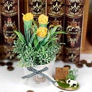 お買い得  人造花-人工花 1 ブランチ 田園風 植物 テーブルトップフラワー