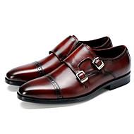 baratos Sapatos Masculinos-Homens Pele Outono Conforto Mocassins e Slip-Ons Preto / Vinho / Festas & Noite