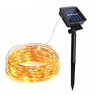 billiga Belysning-10m Ljusslingor 100 lysdioder 1Sätt monteringsfäste Varmvit / RGB / Vit Sol / Vattentät / Dekorativ Soldriven 1set