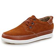 baratos Sapatos Masculinos-Homens Couro de Porco Outono Conforto Tênis Cinzento / Marron / Azul