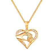 Kubični Zirconia Ogrlice s privjeskom - Srce dame, Moda Zlato, Pink, Rose Gold 55 cm Ogrlice Jewelry Za Dnevno