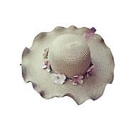 Per donna Essenziale / Vacanze Cappello di paglia / Cappello da sole Fantasia floreale / Tessuto / Estate