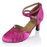 billige Moderne sko-Dame Moderne sko Sateng / Kunstlær Sandaler / Høye hæler Kubansk hæl Kan spesialtilpasses Dansesko Rosa / Ytelse