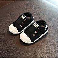 baratos Sapatos de Menino-Para Meninos Sapatos Lona Primavera Conforto Tênis Elástico para Preto / Cinzento / Verde Tropa