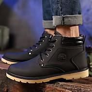 Muškarci Cipele PU Zima Udobne cipele / Vojničke čizme Čizme Čizme gležnjače / do gležnja Crn / Braon / Plava