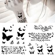 billiga Temporära tatueringar-5pcs Klistermärke Djurserier Tatueringsklistermärken