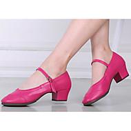 billige Moderne sko-Dame Moderne sko PU Høye hæler Tykk hæl Dansesko Svart / Fuksia / Rød / Ytelse / Trening