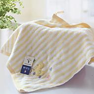 billige Hjemmetekstiler-Overlegen kvalitet Vaskehåndklæ, Stripet Polyester / Bomull Baderom
