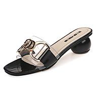 Χαμηλού Κόστους Shoes Trends-Γυναικεία Παπούτσια PU Καλοκαίρι Ανατομικό Παντόφλες & flip-flops Κοντόχοντρο Τακούνι Μαύρο / Μπεζ / Χακί