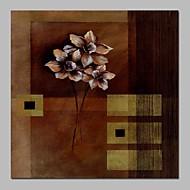 billiga Blom-/växtmålningar-Hang målad oljemålning HANDMÅLAD - Abstrakt / Blommig / Botanisk Traditionell Duk