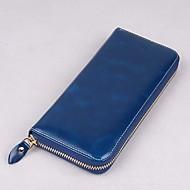 baratos Clutches & Bolsas de Noite-Mulheres Bolsas Pele Bolsa de Mão Ziper Amarelo / Fúcsia / Azul Real