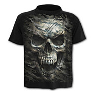 Herre - Geometrisk / Dødningehoveder Kranium / Aktiv T-shirt