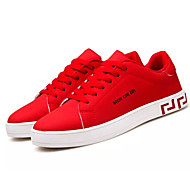 cheap Men's Sneakers-Men's Shoes Faux Leather Spring / Fall Light Soles Sneakers Black / Gray / Red