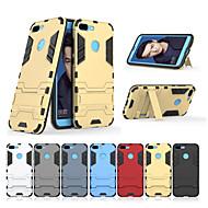 billiga Mobil cases & Skärmskydd-fodral Till Huawei Honor 9 Lite med stativ Skal Enfärgad Hårt PC för Huawei Honor 9 Lite