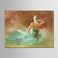 billiga Människomålningar-Hang målad oljemålning HANDMÅLAD - Abstrakt / Människor Moderna Duk