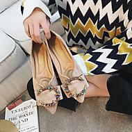 お買い得  レディースフラットシューズ-女性用 靴 スエード 春 コンフォートシューズ フラット ローヒール ブラック / ベージュ