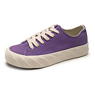 baratos Sapatos Femininos-Mulheres Sapatos Lona Primavera Verão Conforto Tênis Caminhada Sem Salto Ponta Redonda Roxo / Azul / Rosa claro