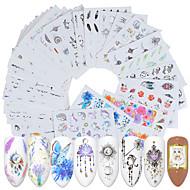 40 pcs Klistermærker Negle kunst Manicure Pedicure Kreativ Negle Dekaler Dagligdagstøj / Festival