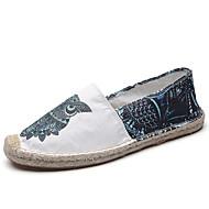 tanie Obuwie męskie-Męskie Komfortowe buty Jeans Lato Mokasyny i buty wsuwane Biały / Czerwony / Niebieski