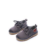 baratos Sapatos de Menino-Para Meninos Sapatos Couro Ecológico Primavera & Outono Conforto / Solados com Luzes Oxfords Caminhada para Infantil Cinzento