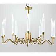 billiga Belysning-QIHengZhaoMing Ljuskronor Glödande - stearinljus stil, 110-120V / 220-240V, Varmt vit, Glödlampa inkluderad