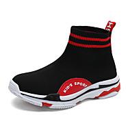 baratos Sapatos de Menino-Para Meninos Sapatos Tricô / Couro Ecológico Primavera Verão Conforto Botas Caminhada para Adolescente Branco / Preto / Preto / Vermelho