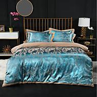 cheap Home Textiles New Arrivals-Duvet Cover Sets Luxury 100% Cotton / Silk / Cotton Blend / Cotton Jacquard Printed & Jacquard 4 PieceBedding Sets / 300 / 4pcs (1 Duvet Cover, 1 Flat Sheet, 2 Shams)