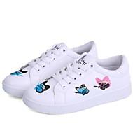 baratos Sapatos Femininos-Mulheres Sapatos Couro Ecológico Verão Conforto Tênis Sem Salto Dedo Fechado Estampa Animal Branco
