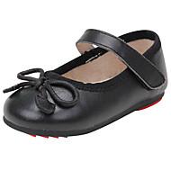 baratos Sapatos de Menina-Para Meninas Sapatos Pele Napa Primavera Verão Conforto Rasos Laço para Preto / Vermelho