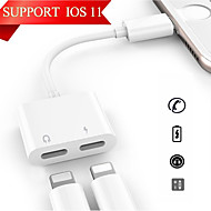 cheap Apple Accessories-Lightning 1 to 2 Adapter iPhone for 12 cm For PVC(PolyVinyl Chloride)