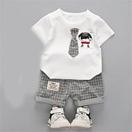 Baby Unisex Ensfarvet Kortærmet Tøjsæt